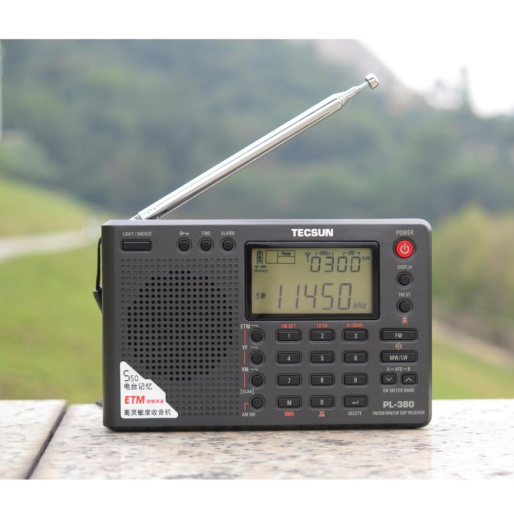 Tecsun PL-380 PL380 radio Digital PLL Portable Radio FM Stereo/LW/SW/MW DSP  Receiver Nice
