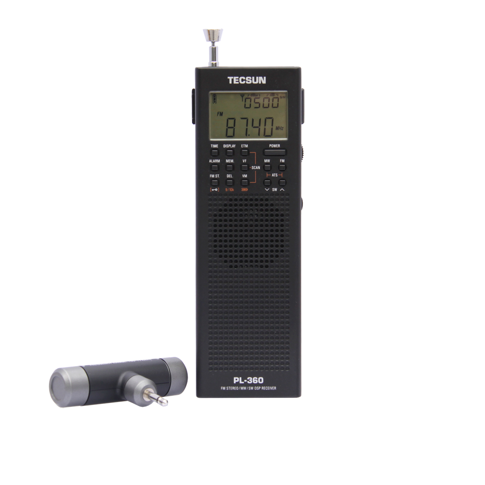 PL360 PLL World Band DSP Radio Station Receiver with ETM AM FM SW LW PL-360 Black Available Built-in Speaker