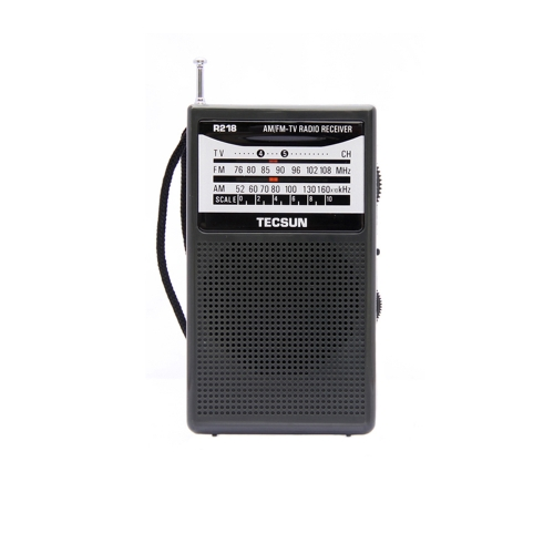 Free Shipping TECSUN R-218 AM/FM/TV Sound Pocket Radio Receiver with Built-In Speaker