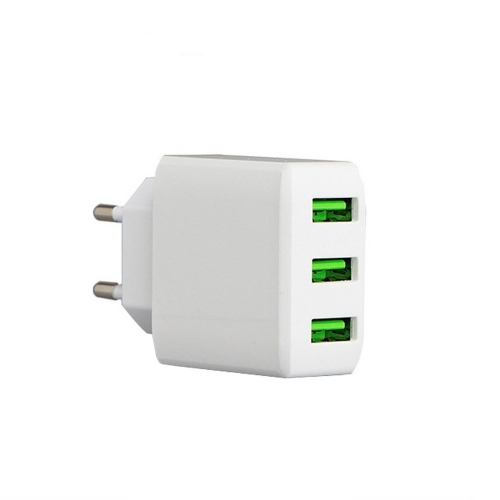 XHDATA 5V 3A USB 3.0 Mobile Phone Charger 3 Jack Interfaces Output Adapter Quick Intellectual Charging EU Plug