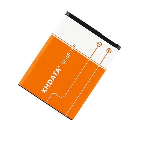 XHDATA BL-5B 1200Mah/BL-5C 1500Mah Rechargeable Li-ion Battery Intelligent Charge& Protection Circuit Environmental for Mobile Phone Nokia Battery