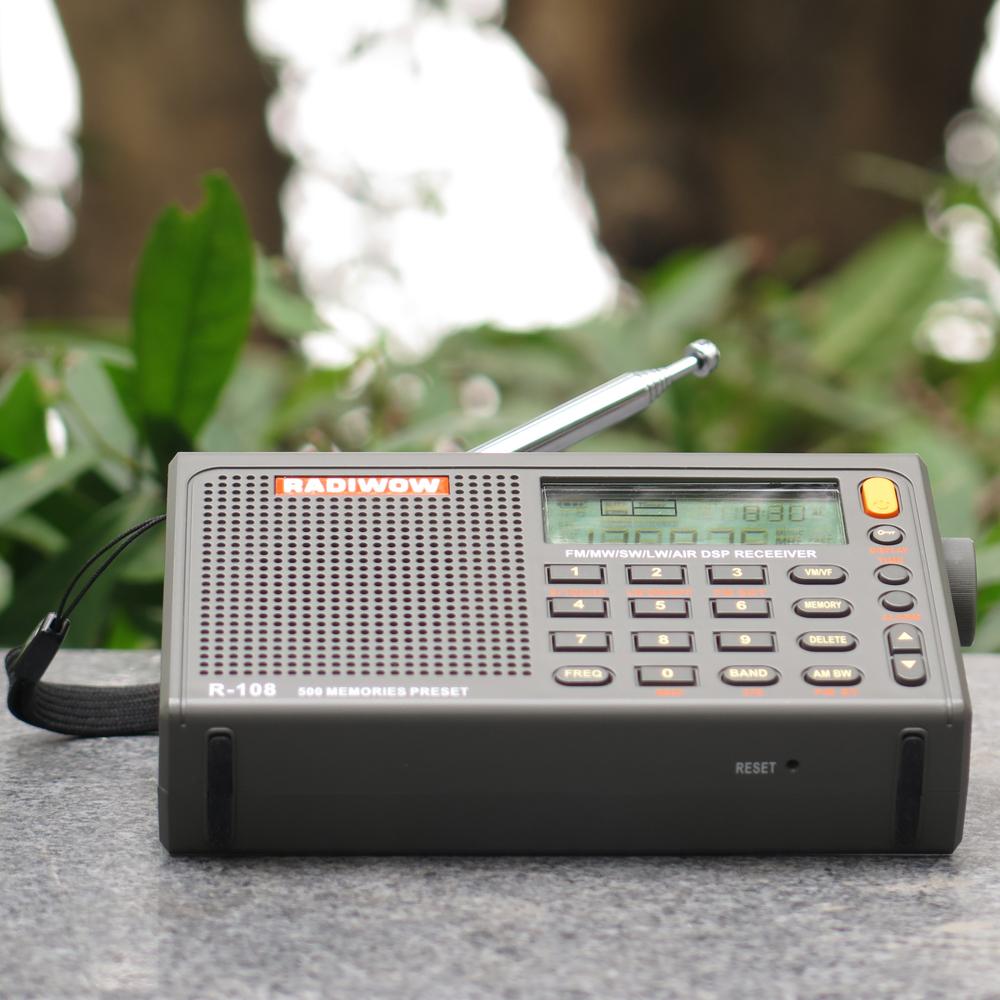 RADIWOW R-108 Radio Digital AM FM Portable Stereo AIR Band LCD Display Receiver